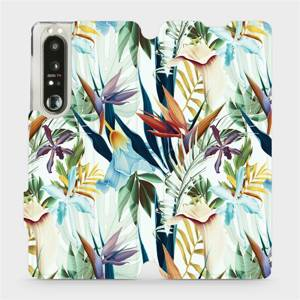 Flip pouzdro Mobiwear na mobil Sony Xperia 1 III - M071P Flóra
