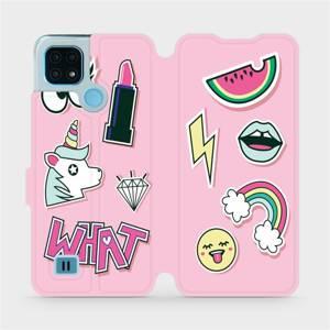 Flip pouzdro Mobiwear na mobil Realme C21 - M129S Růžové WHAT