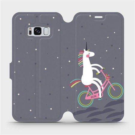 Flipové pouzdro Mobiwear na mobil Samsung Galaxy S8 - V024P Jednorožec na kole