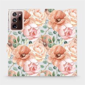 Flip pouzdro Mobiwear na mobil Samsung Galaxy Note 20 Ultra - MP02S Pastelové květy