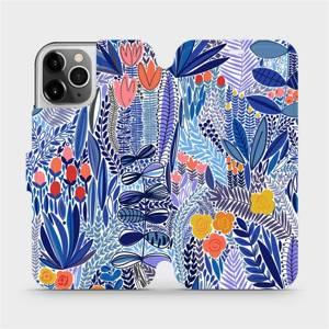 Flip pouzdro Mobiwear na mobil Apple iPhone 12 Pro - MP03P Modrá květena
