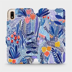 Flip pouzdro Mobiwear na mobil Huawei Y5 2019 / Honor 8S - MP03P Modrá květena