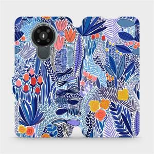 Flip pouzdro Mobiwear na mobil Nokia 3.4 - MP03P Modrá květena