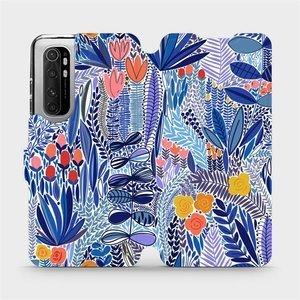 Flip pouzdro Mobiwear na mobil Xiaomi Mi Note 10 Lite - MP03P Modrá květena