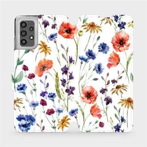 Flip pouzdro Mobiwear na mobil Samsung Galaxy A32 LTE - MP04S Luční kvítí