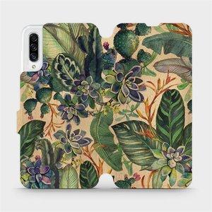 Flip pouzdro Mobiwear na mobil Samsung Galaxy A30s - VP05S Sukulenty