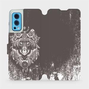 Flip pouzdro Mobiwear na mobil OnePlus Nord 2 5G - V064P Vlk a lapač snů