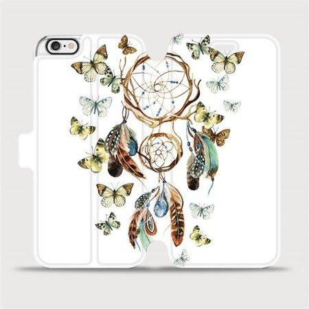 Flipové pouzdro Mobiwear na mobil Apple iPhone 6 / iPhone 6s - M001P Lapač a motýlci