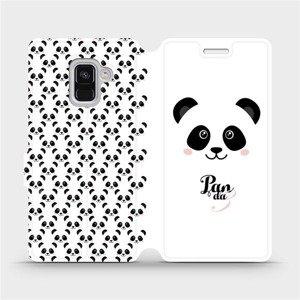 Flipové pouzdro Mobiwear na mobil Samsung Galaxy A8 2018 - M030P Panda Amálka