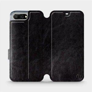 Flipové pouzdro Mobiwear na mobil Honor 10 v provedení C_BLS Black&Gray s šedým vnitřkem