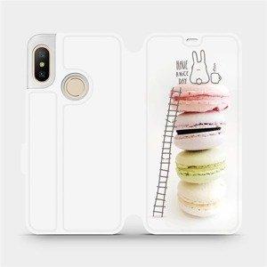Flipové pouzdro Mobiwear na mobil Xiaomi Mi A2 Lite - M090P Makronky - have a nice day