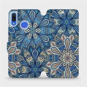 Flipové pouzdro Mobiwear na mobil Huawei Nova 3 - V108P Modré mandala květy