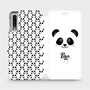 Flipové pouzdro Mobiwear na mobil Samsung Galaxy A7 2018 - M030P Panda Amálka