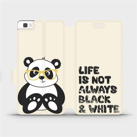Flipové pouzdro Mobiwear na mobil Huawei P8 Lite - M041S Panda - life is not always black and white