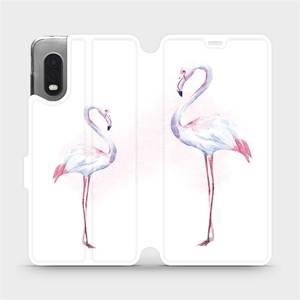 Flipové pouzdro Mobiwear na mobil Samsung Xcover PRO - M005S Plameňáci