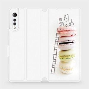 Flipové pouzdro Mobiwear na mobil LG Velvet - M090P Makronky - have a nice day