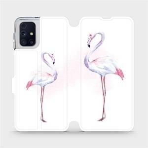 Flipové pouzdro Mobiwear na mobil Samsung Galaxy M31s - M005S Plameňáci