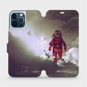 Flipové pouzdro Mobiwear na mobil Apple iPhone 12 Pro Max - MA07S Týpek ve skafandru