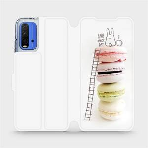 Flipové pouzdro Mobiwear na mobil Xiaomi Redmi 9T - M090P Makronky - have a nice day