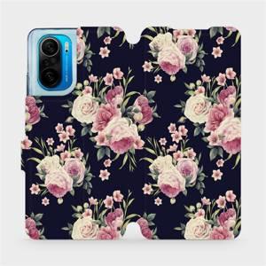 Flipové pouzdro Mobiwear na mobil Xiaomi Mi 11i / Xiaomi Poco F3 - V068P Růžičky