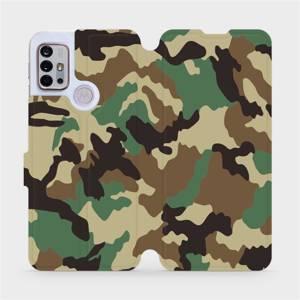 Flipové pouzdro Mobiwear na mobil Motorola Moto G10 - V111P Maskáče