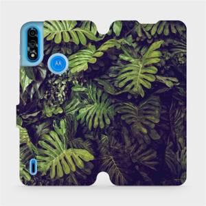 Flipové pouzdro Mobiwear na mobil Motorola Moto E7i Power - V136P Zelená stěna z listů