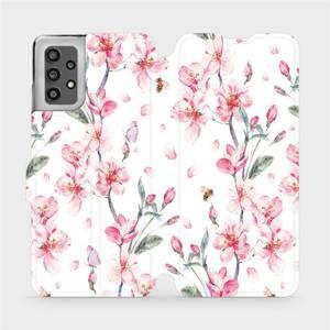 Flip pouzdro Mobiwear na mobil Samsung Galaxy A32 LTE - M124S Růžové květy