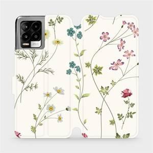 Flip pouzdro Mobiwear na mobil Realme 8 - MD03S Tenké rostlinky s květy