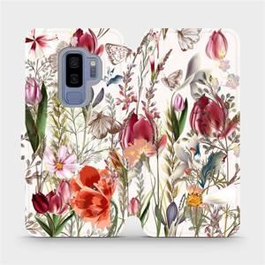 Flip pouzdro Mobiwear na mobil Samsung Galaxy S9 Plus - MP01S Rozkvetlá louka