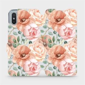 Flip pouzdro Mobiwear na mobil Xiaomi Redmi 9A - MP02S Pastelové květy