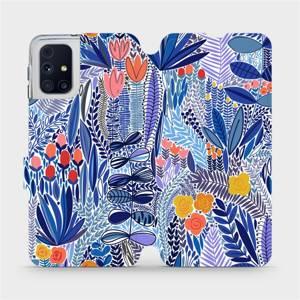 Flip pouzdro Mobiwear na mobil Samsung Galaxy M31s - MP03P Modrá květena