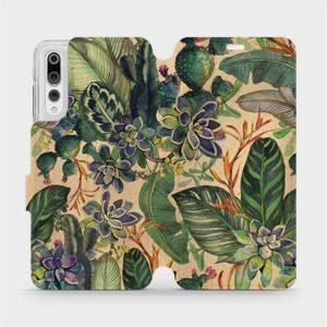 Flip pouzdro Mobiwear na mobil Huawei P20 Pro - VP05S Sukulenty