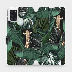 Flip pouzdro Mobiwear na mobil Samsung Galaxy A21S - VP06P Žirafky