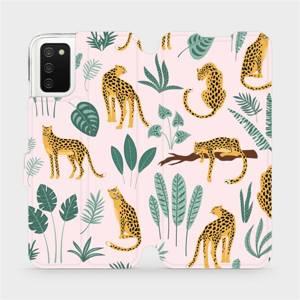 Flip pouzdro Mobiwear na mobil Samsung Galaxy A02S - MP07S Leopardi