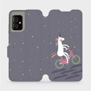 Flip pouzdro Mobiwear na mobil Asus Zenfone 8 - V024P Jednorožec na kole