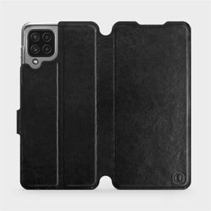 Flip pouzdro Mobiwear na mobil Samsung Galaxy M22 v provedení C_BLS Black&Gray s šedým vnitřkem