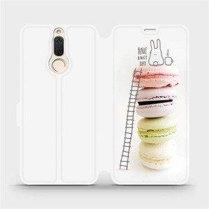 Flipové pouzdro Mobiwear na mobil Huawei Mate 10 Lite - M090P Makronky - have a nice day