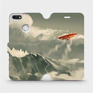 Flipové pouzdro Mobiwear na mobil Huawei P9 Lite mini - MA03P Oranžové letadlo v horách