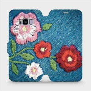 Flipové pouzdro Mobiwear na mobil Samsung Galaxy S8 - MD05P Džínové květy