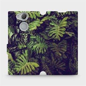 Flipové pouzdro Mobiwear na mobil Sony Xperia XA2 - V136P Zelená stěna z listů