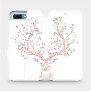 Flipové pouzdro Mobiwear na mobil Honor 10 - M007S Růžový jelínek