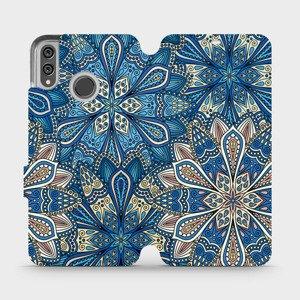 Flipové pouzdro Mobiwear na mobil Honor 8X - V108P Modré mandala květy