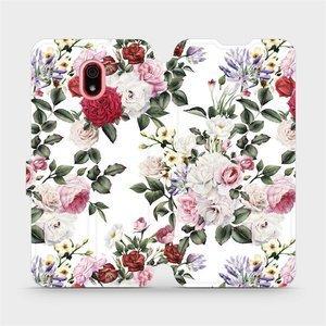 Flipové pouzdro Mobiwear na mobil Xiaomi Redmi 8a - MD01S Růže na bílé