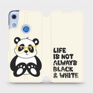 Flipové pouzdro Mobiwear na mobil Huawei Y6S - M041S Panda - life is not always black and white