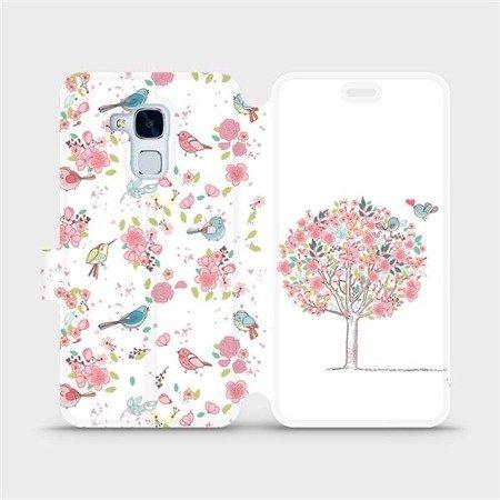 Flipové pouzdro Mobiwear na mobil Honor 7 Lite - M120S Strom a ptáčci