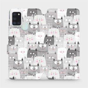 Flipové pouzdro Mobiwear na mobil Samsung Galaxy A21S - M099P Kočičky