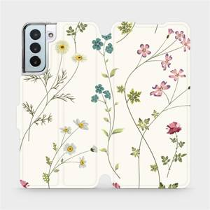 Flipové pouzdro Mobiwear na mobil Samsung Galaxy S21 Plus 5G - MD03S Tenké rostlinky s květy