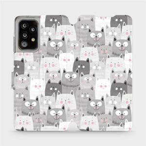 Flipové pouzdro Mobiwear na mobil Samsung Galaxy A52 / A52 5G / A52s 5G - M099P Kočičky