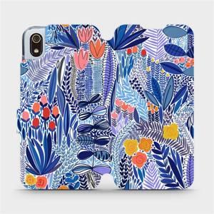 Flip pouzdro Mobiwear na mobil Xiaomi Redmi 7A - MP03P Modrá květena