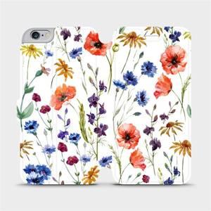 Flip pouzdro Mobiwear na mobil Apple iPhone 6s Plus / iPhone 6 Plus - MP04S Luční kvítí